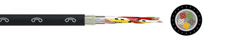 Self-supporting communication cable A-02YS(St)(Zg)2Y St III Bd