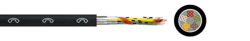 Subscriber line cable A-2YF(L)2Y St III Bd