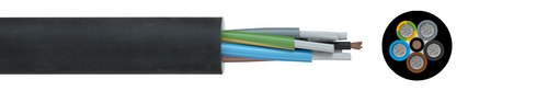 Aluminium rubber cable 07BN4-AF