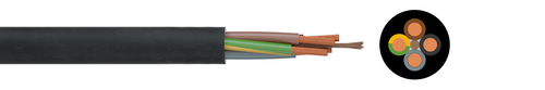 FRNC rubber cable H07ZZ-F
