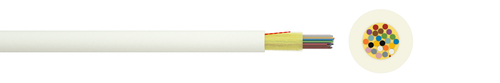 Indoor fibre optic cable I-V(ZN)H 1xN G.657A1 600µ (ZT)