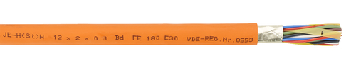 Communication cable with circuit integrity JE-H(St)H ... Bd  FE180/E30