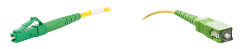Fibre optic patch cable LC/APC to SC/APC, G657.A1