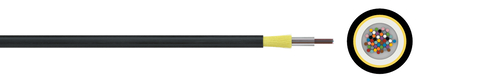 Optical micro cable 10/6 A-D(ZN)2Y (HT)