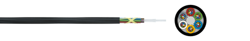 Optical micro cable 10/6 A-DQ2Y 6xN G.657A1 200µ (ZT)