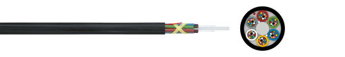 Optical micro cable 10/6 A-DQ(ZN)2Y  nx12 (HT)
