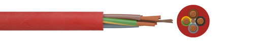 Silicone insulated cord SiHF