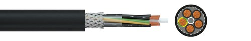 Screened FRNC control cable HSLCH-JZ/-OZ 600