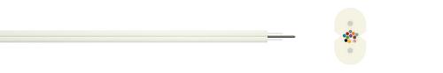 Indoor fibre optic cable I-flat 1xN G.657A1 250µ (ZT)