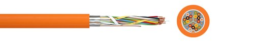 Communication cable with circuit integrity JE-H(St)H FE180/E30-E90