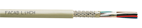 Screened FRNC electronic cable LiHCH