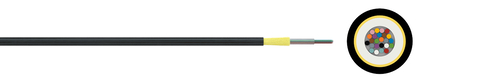 Optical micro cable 7/4 A-D(ZN)2Y (HT)
