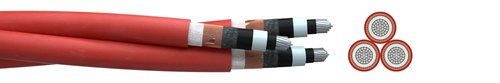 Medium voltage cable (N)A2XS(F)2Y 3-times stranded