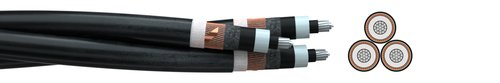 Medium voltage cable NA2XS(F)2Y 3-times stranded