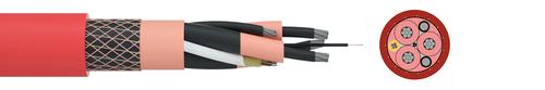 Medium voltage reeling cable / FO TRATOSFLEX-ES3-FO® Type K