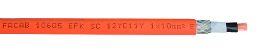 FABER EFK-SC12YC11Y-O 1X240 0,6/1 kV cUL SW/OR