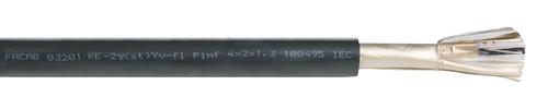 RE-2Y(St)Yv PiMF 08X2X0,5 BL IEC 332-1